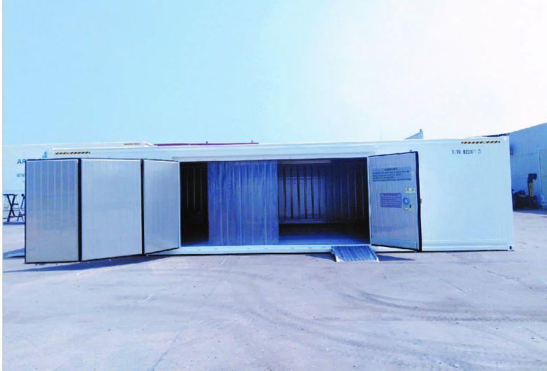 Cold storage container side door design