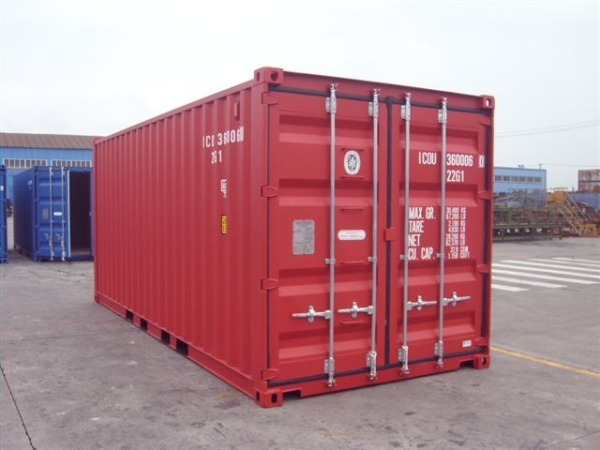 red bulk container