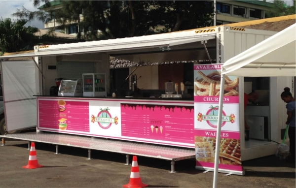 container booth using