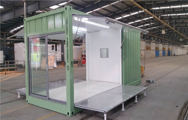 container booth display