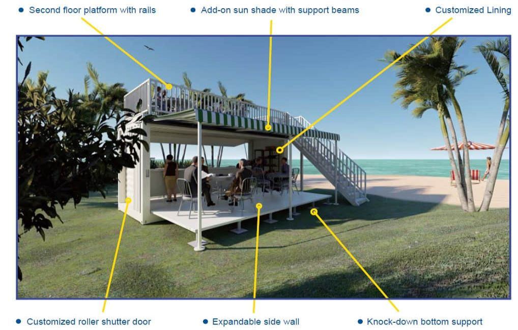 Container booth design highlight