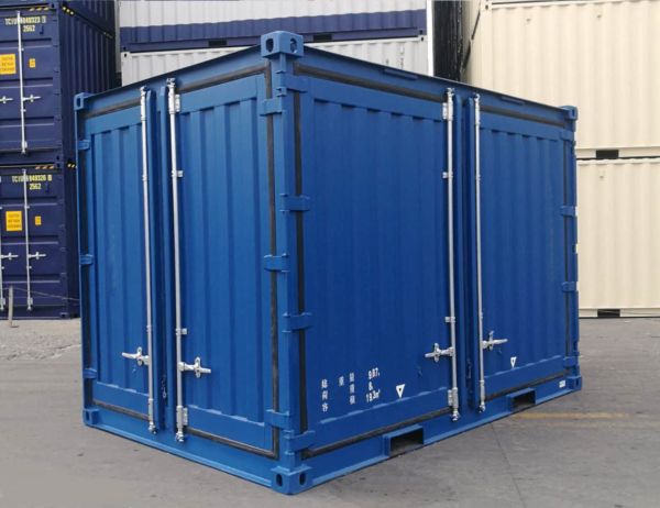 12' open side container blue