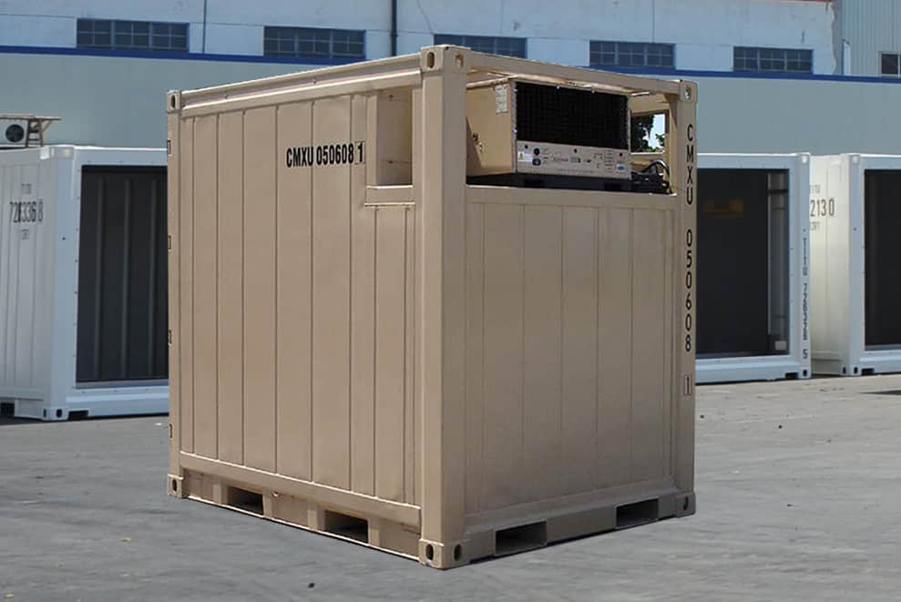 Quadcon reefer container external view