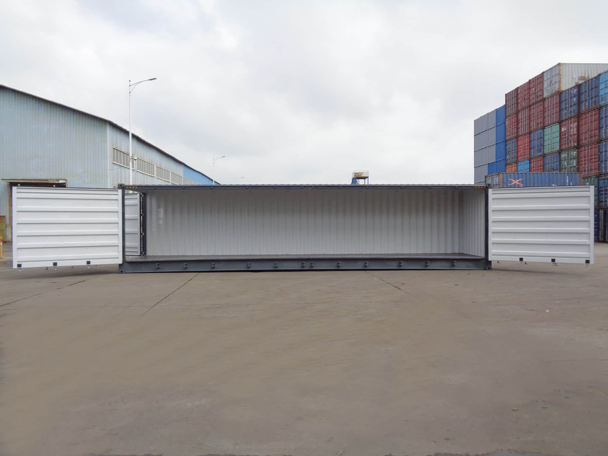 40' open side container