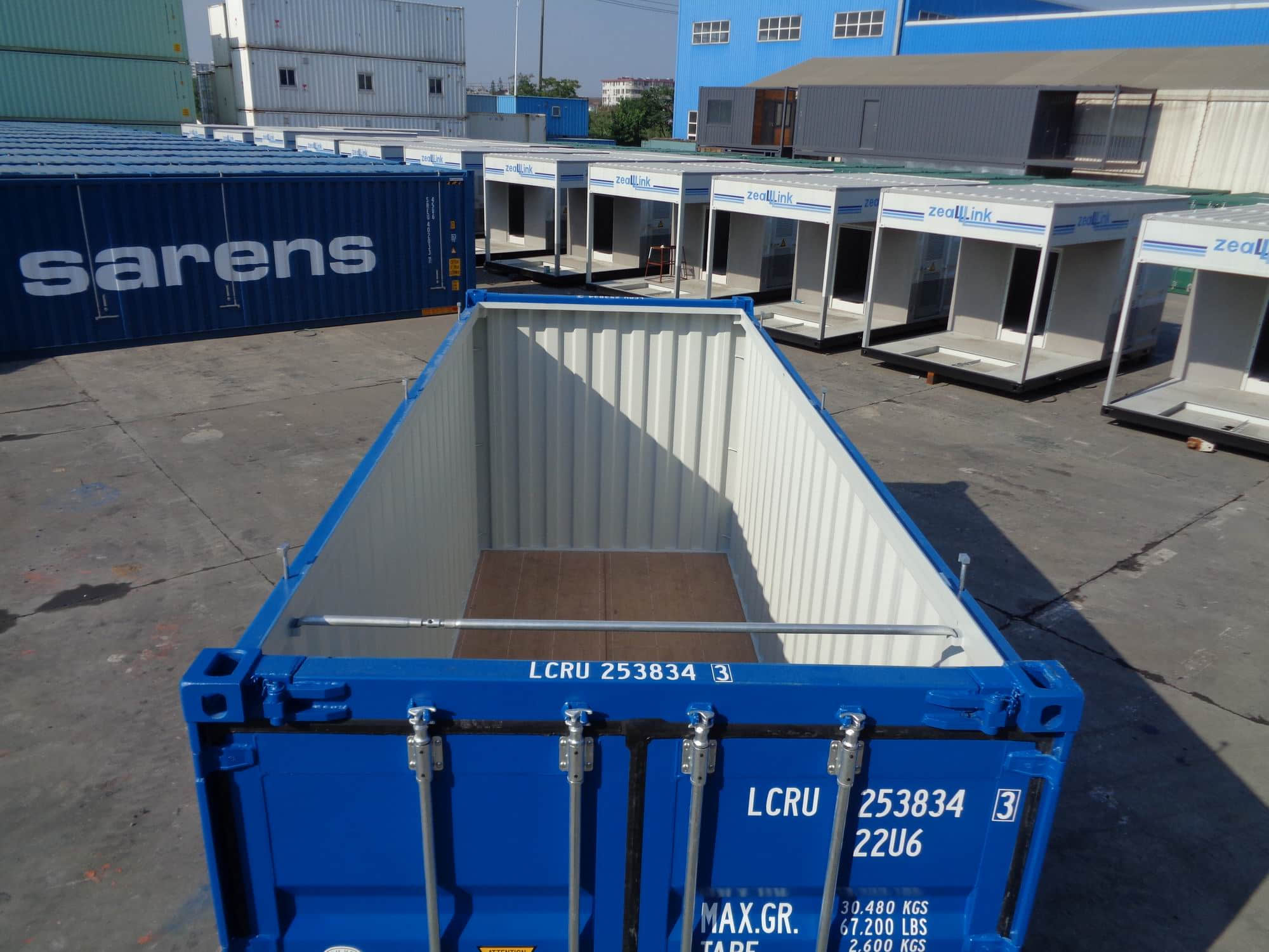 20' Hard Open Top Container detail