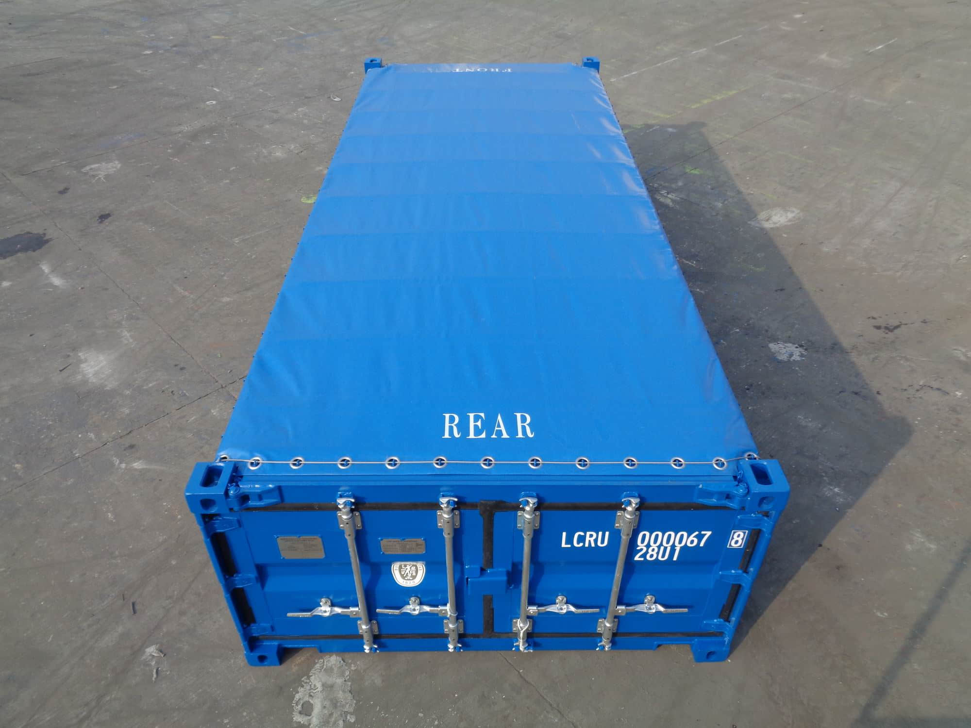 20' Half Height Open Top Container – top view