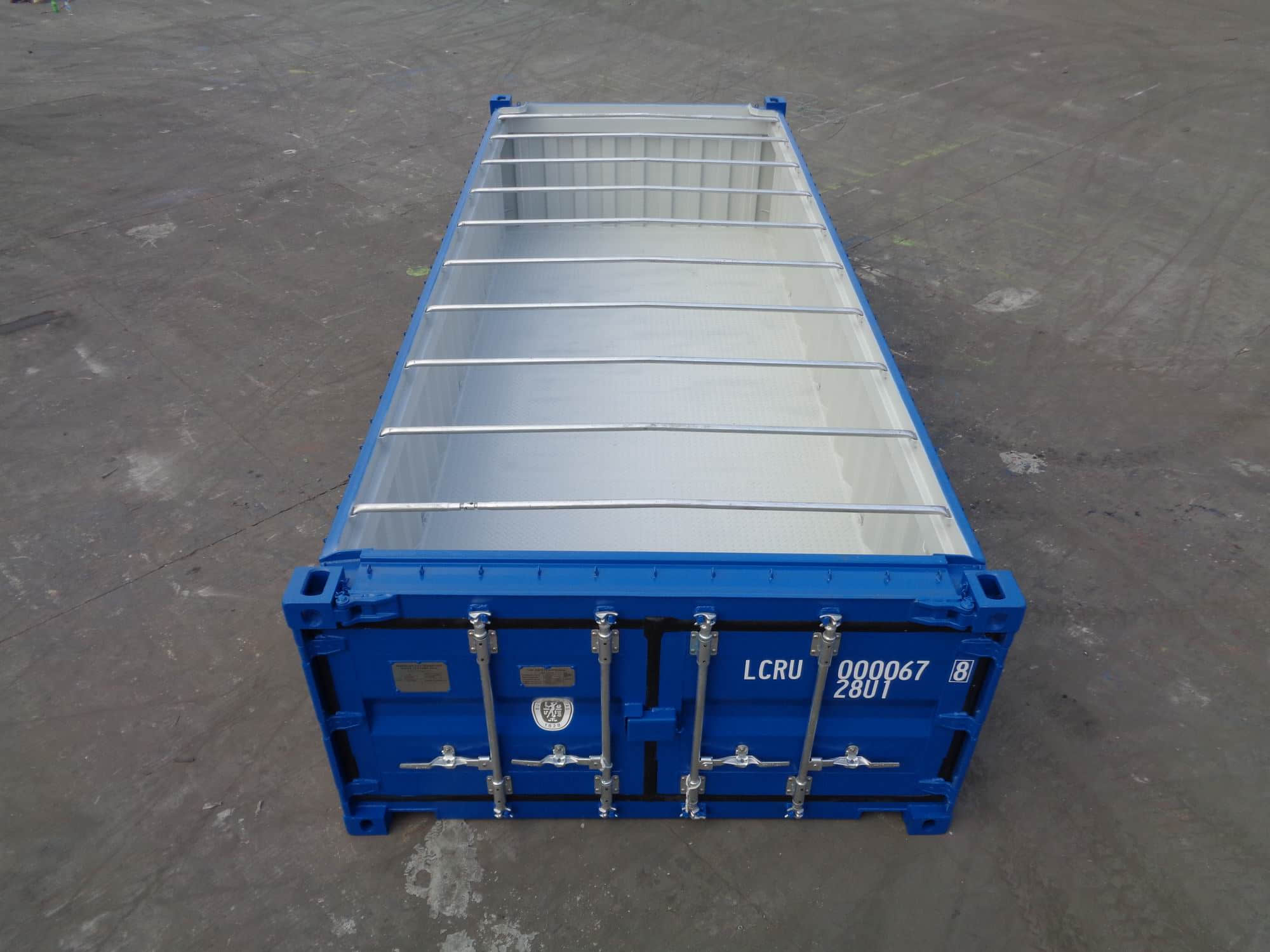 20' Half Height Hard Open Top Container detail