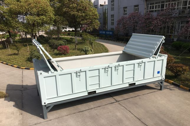 Half height waste sea container