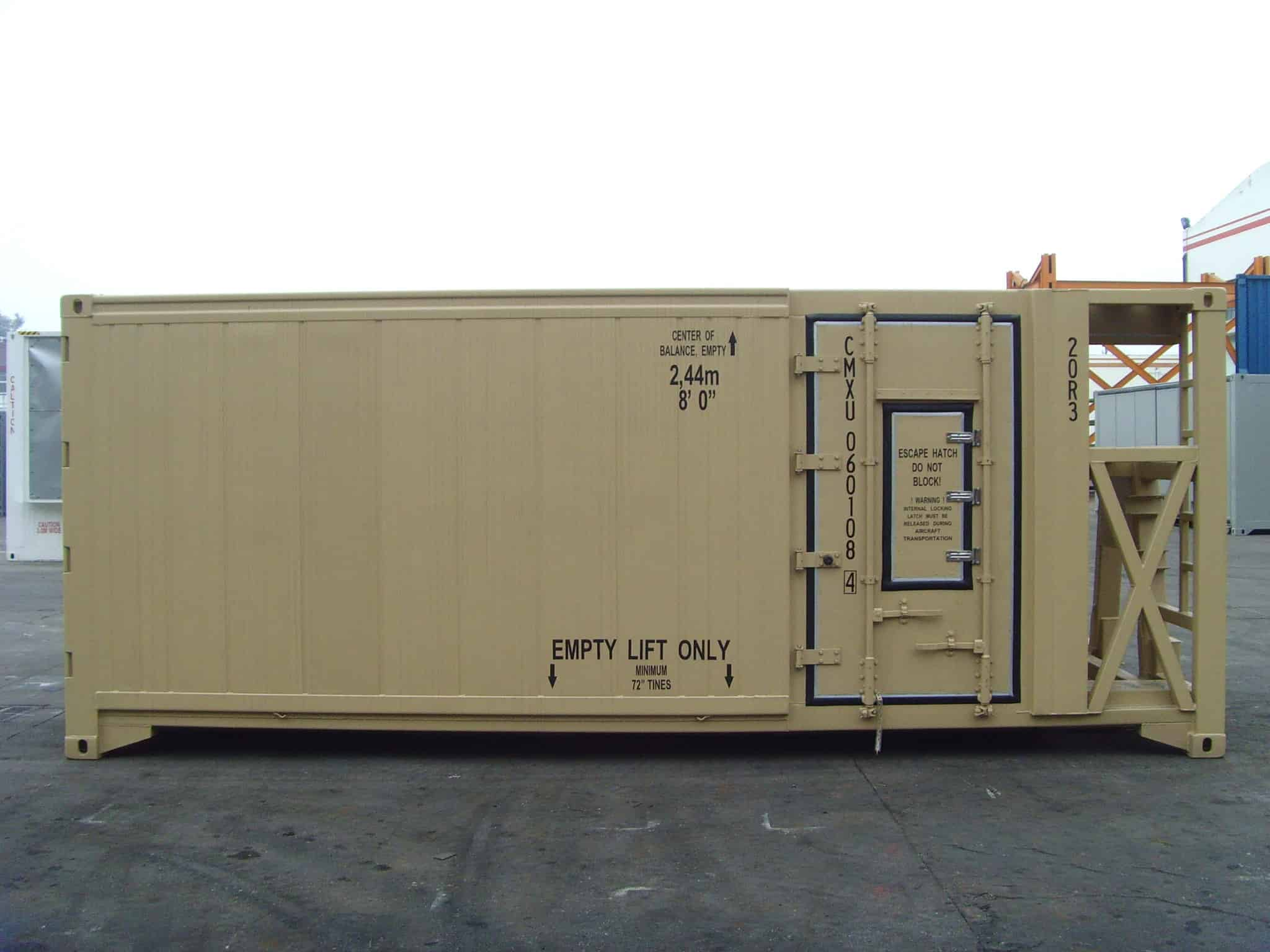 military container side door