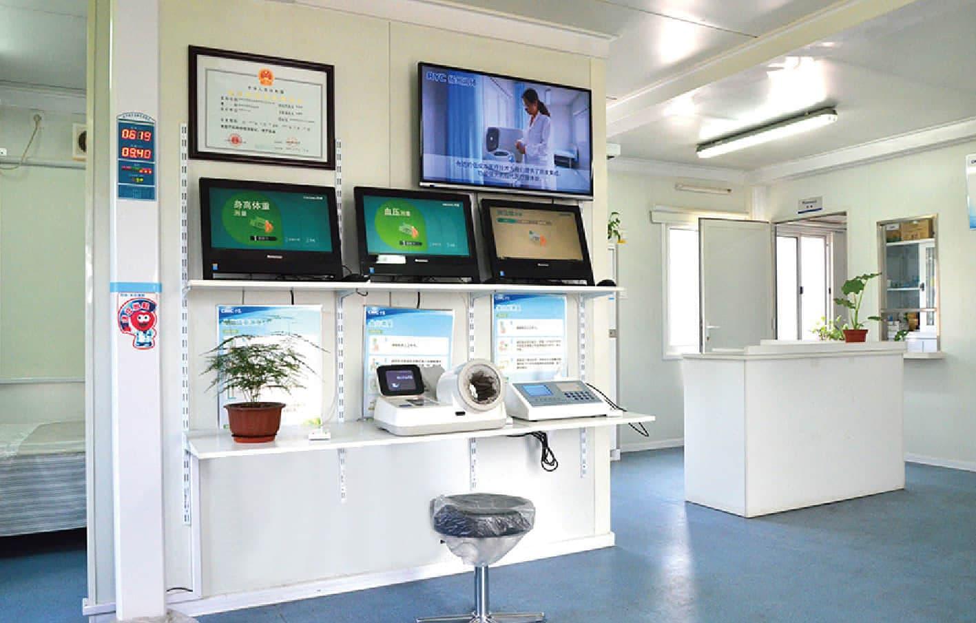prefab clinic – registration area