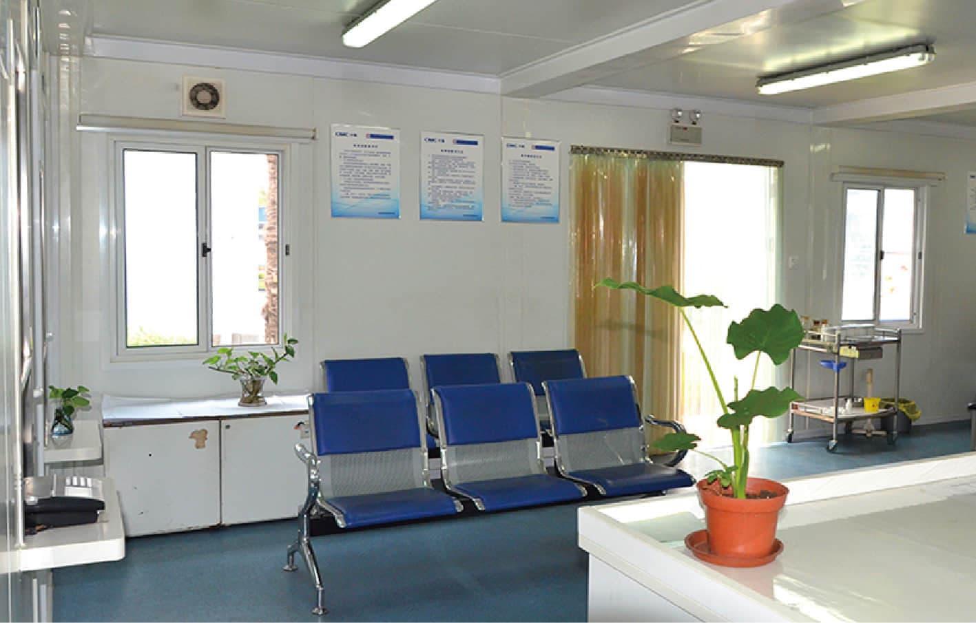 prefab clinic – waiting area
