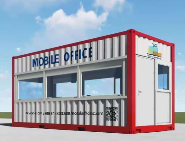 Prefab container office – side view