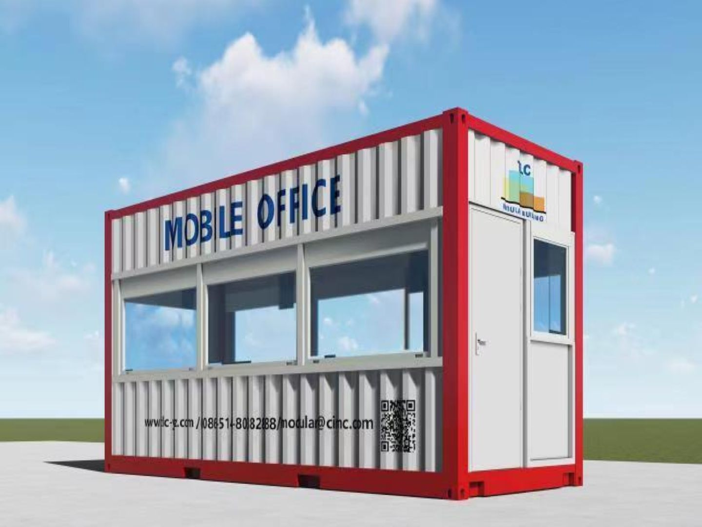 Prefab Container Office display