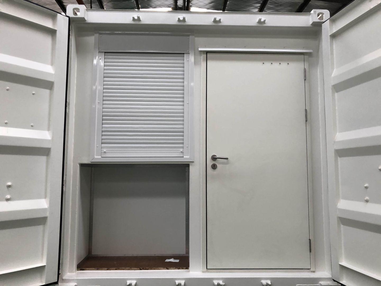 Prefab container office – door end design
