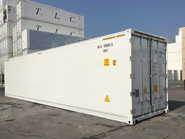 refrigerated sea container display