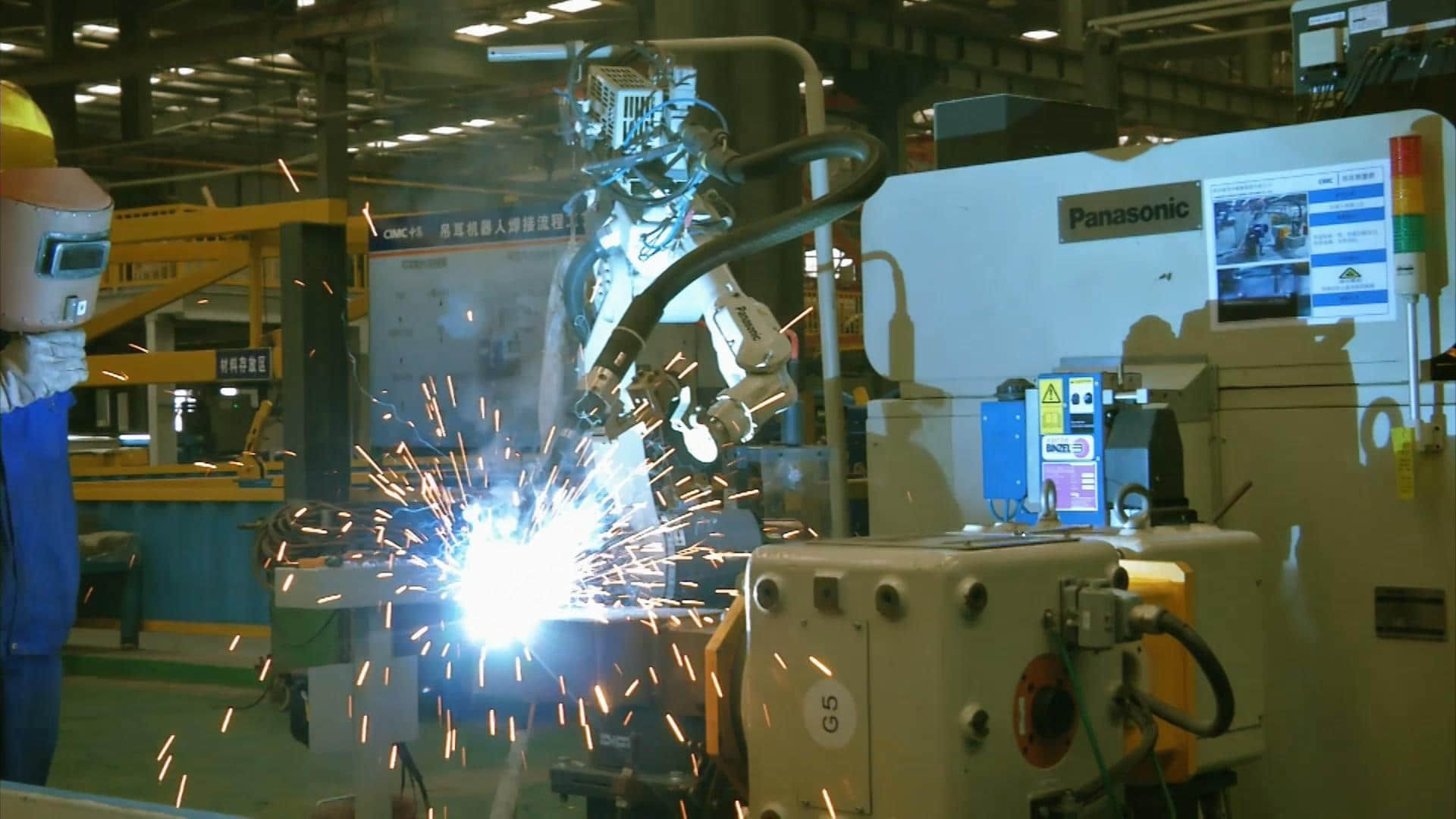 containers robot welding