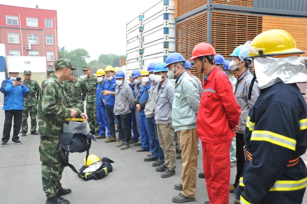 CIMC Yangzhou Base safety training 1