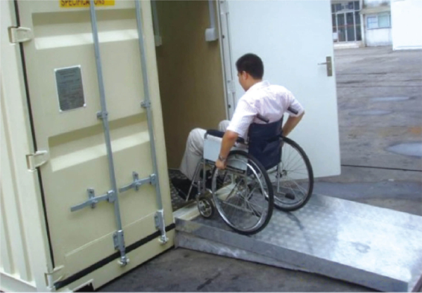 sanitary container using