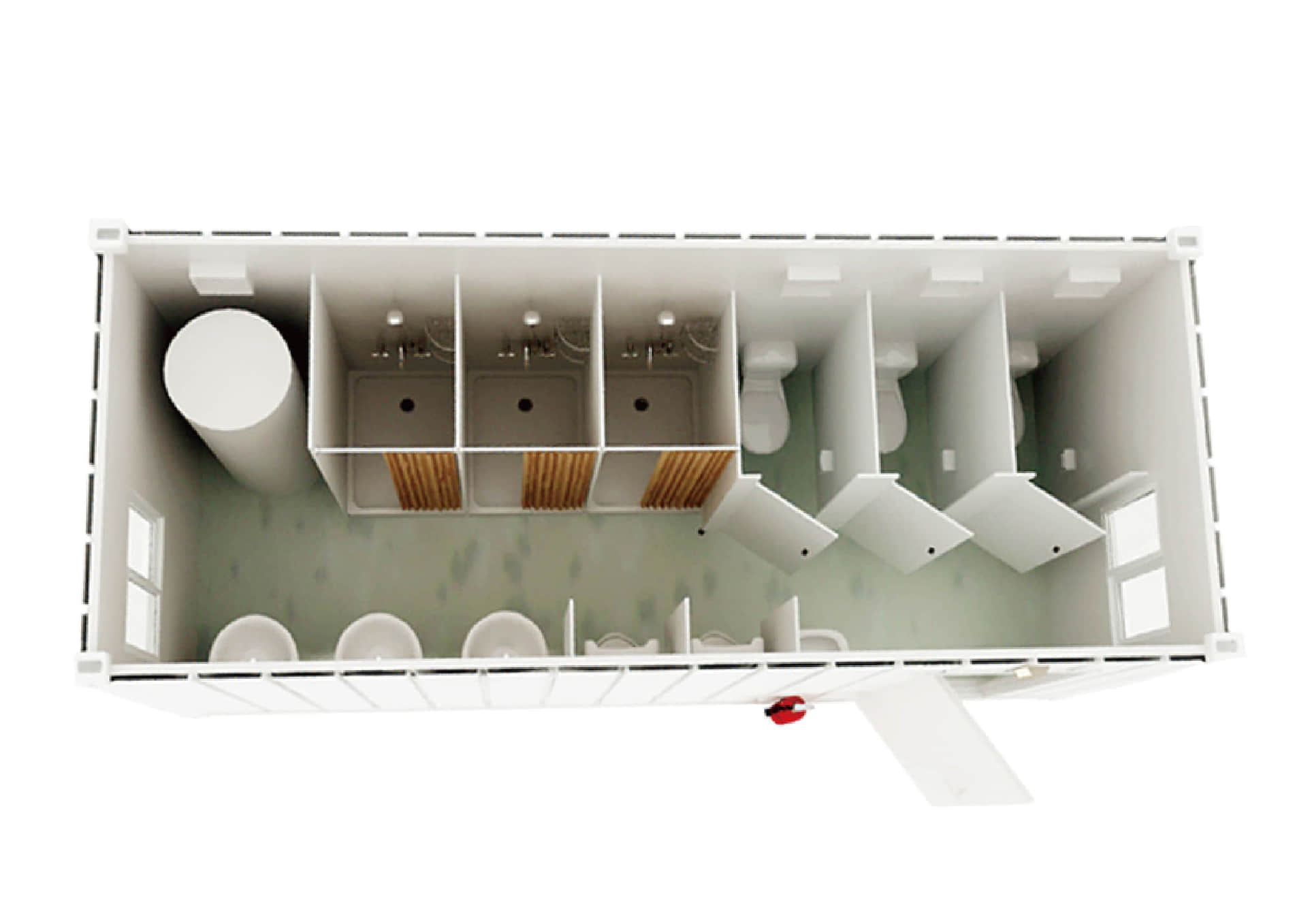 sanitary container 3d top view