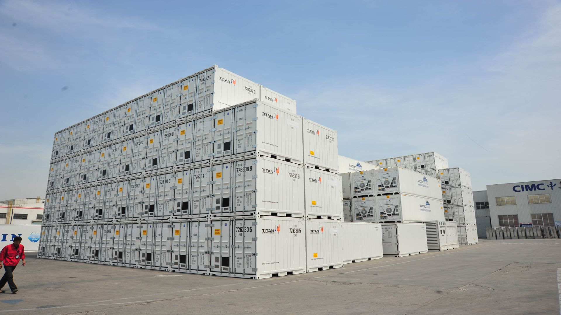 containers storage yard