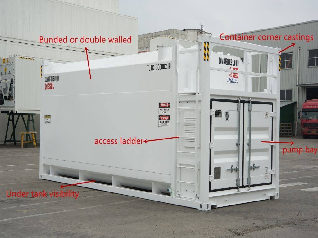 Tank container features