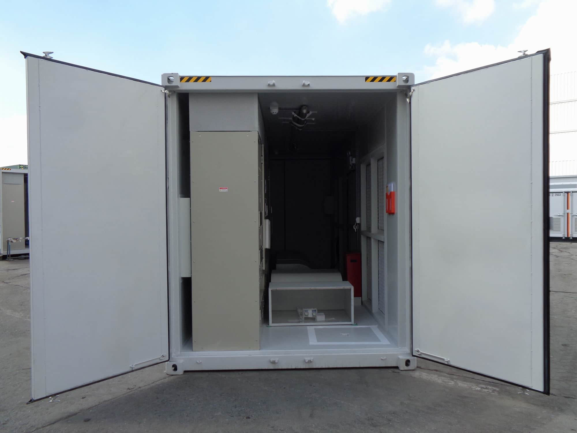 Solar container internal view